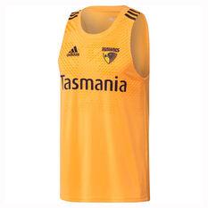 Hawthorn Hawks 2019/20 Mens Performance Tank Yellow XS, Yellow, rebel_hi-res