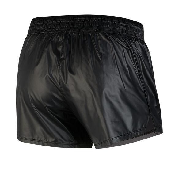 Nike Womens Swoosh Running Shorts, Black, rebel_hi-res
