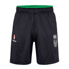 Warriors 2020 Mens Knit Gym Shorts Black S, Black, rebel_hi-res