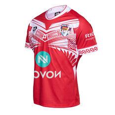 Tonga 2020 Mens Home Jersey Red S, Red, rebel_hi-res