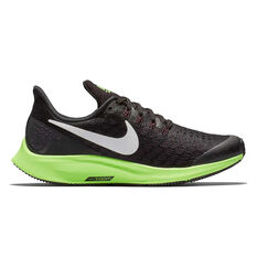 616c53b75cb Nike Air Zoom Pegasus 35 Kids Running Shoes Black   Green US 1