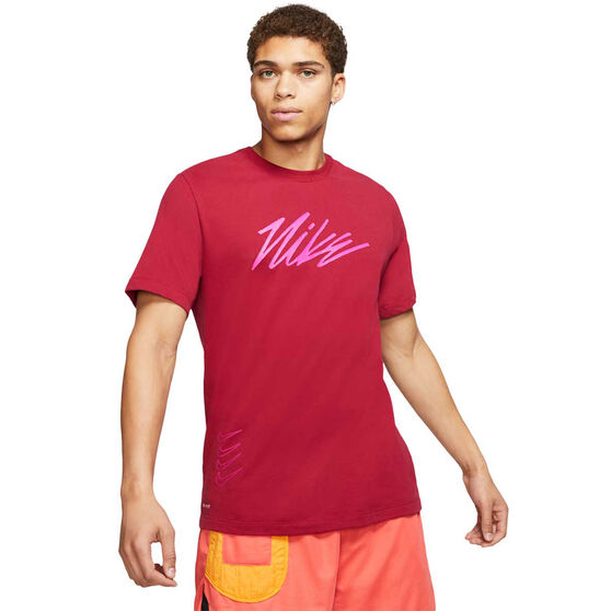 Nike Mens Dri-FIT Graphic Training Tee, Red, rebel_hi-res