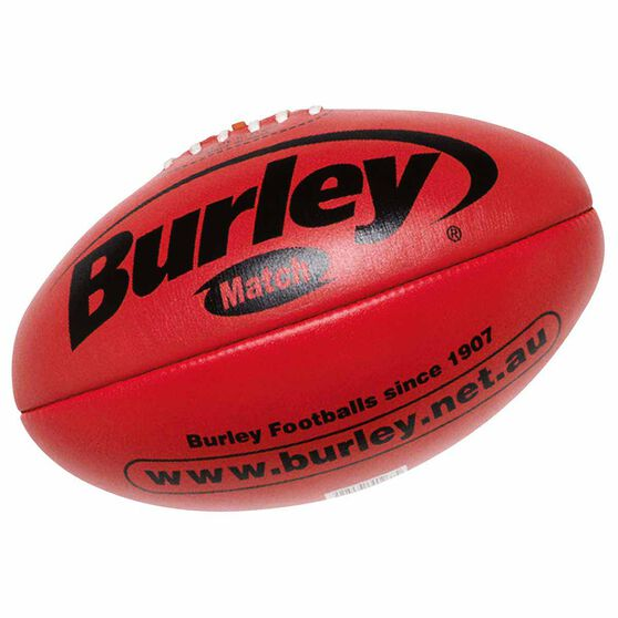 Burley AFL Match Australian Rules Ball, Red, rebel_hi-res