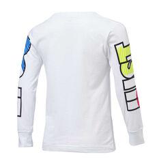 Nike Boys 90s Just Do It Long Sleeve Tee White 4, White, rebel_hi-res