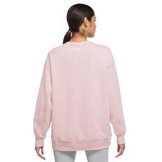 Nike Womens Dri-FIT Get Fit Training Sweatshirt Pink XS, Pink, rebel_hi-res