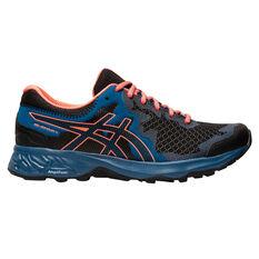 Asics GEL Sonoma 4 D Womens Trail Running Shoes Black / Orange US 6.5, Black / Orange, rebel_hi-res