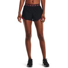 Under Armour Womens Play Up 3.0 Tri Colour Shorts Black XS, Black, rebel_hi-res