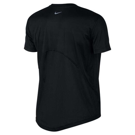 Nike Womens Miler Running Tee, Black, rebel_hi-res