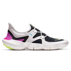 Nike Free RN 5.0 Mens Running Shoes White / Yellow US 7, White / Yellow, rebel_hi-res
