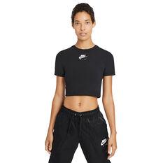 Nike Air Womens Crop Tee Black XS, Black, rebel_hi-res