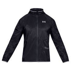 Under Armour Mens Storm Qualifier Packable Jacket Black S, Black, rebel_hi-res