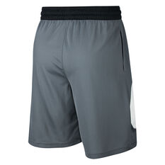 Nike Mens Dri-FIT HBR 2 Basketball Shorts Grey XS, Grey, rebel_hi-res