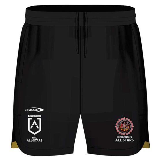 NRL Indigenous All Stars Mens 2021 Training Shorts, Black, rebel_hi-res
