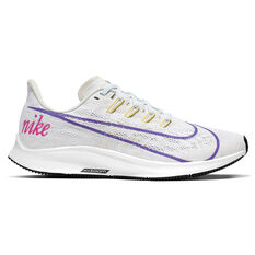 Nike Air Zoom Pegasus 36 Disrupt Womens Running Shoes White / Purple US 6, White / Purple, rebel_hi-res