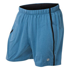 Asics Mens 5in Shorts Blue S, Blue, rebel_hi-res