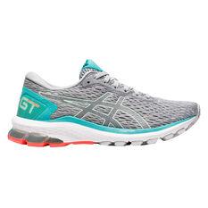 Asics GT 1000 9 D Womens Running Shoes Grey/Mint US 6, Grey/Mint, rebel_hi-res