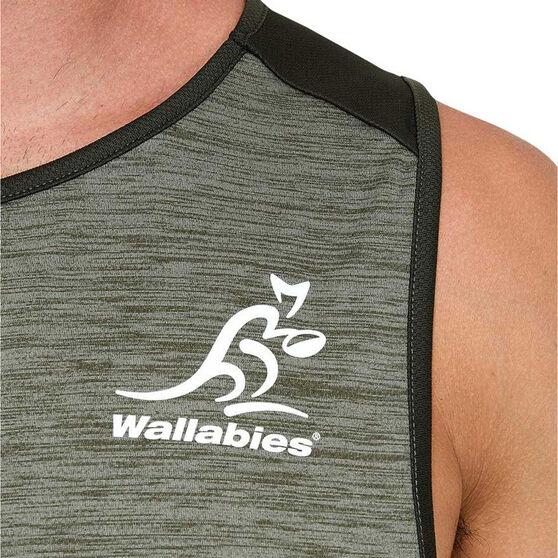 Wallabies 2020 Mens Training Singlet, Grey, rebel_hi-res