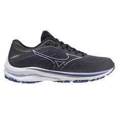 Mizuno Wave Rider 25 Womens Running Shoes Grey/Purple US 6, Grey/Purple, rebel_hi-res