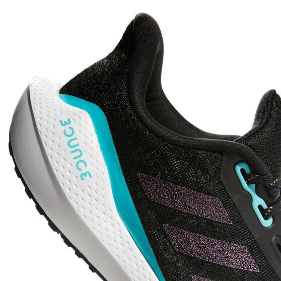 adidas EQ21 Run Kids Running Shoes, Black/Pink, rebel_hi-res