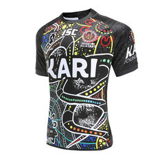 Indigenous All Stars 2020 Mens Home Jersey Black S, Black, rebel_hi-res