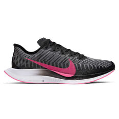 Nike Zoom Pegasus Turbo 2 Mens Running Shoes Black / Pink US 7, Black / Pink, rebel_hi-res
