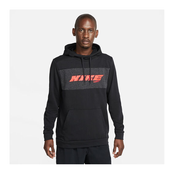Nike Mens Dri-FIT Sport Clash Pullover Training Hoodie, Black, rebel_hi-res