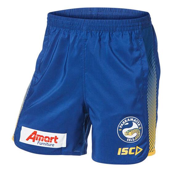 Parramatta Eels 2019 Mens Training Shorts, Blue, rebel_hi-res