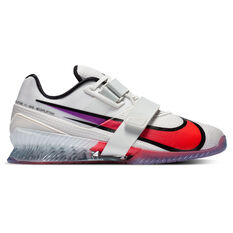 Nike Romaleos 4 SE Mens Training Shoes White/Purple US 8, White/Purple, rebel_hi-res