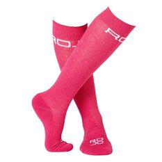 Rojo Girls Thin Lizzy Ski Socks Pink US 1 - 7, , rebel_hi-res
