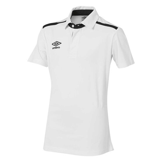 Umbro Velocity Polo Shirt, White, rebel_hi-res