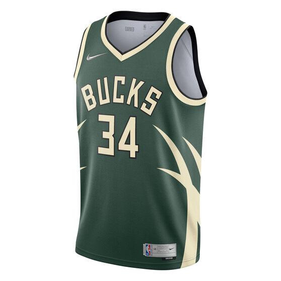 Nike Milwaukee Bucks Giannis Antetokounmpo 2020/21 Mens Earned Jersey, Green, rebel_hi-res