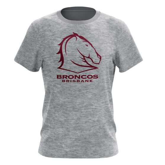 Brisbane Broncos Mens Outline Tee S, , rebel_hi-res