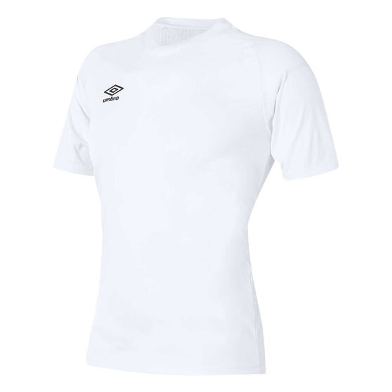 Umbro League Knit Youth Training Jersey, White, rebel_hi-res