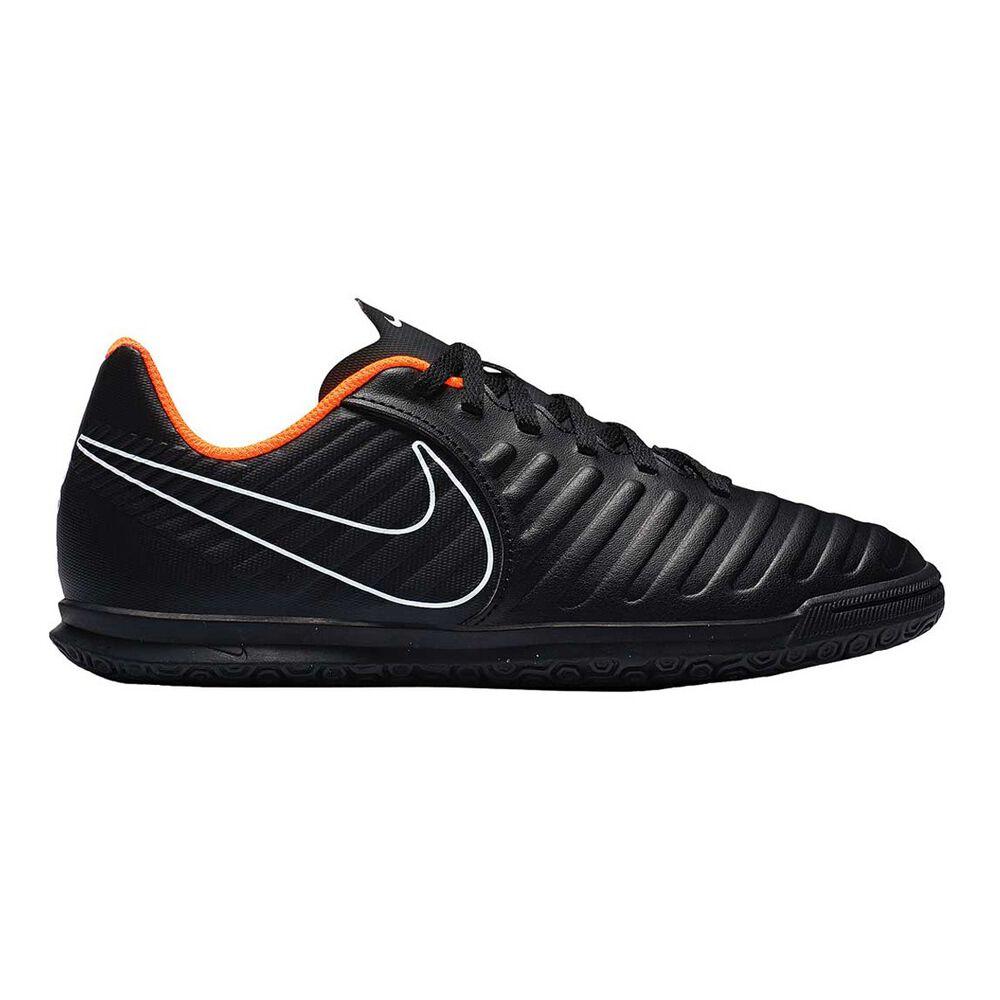 375f7fafd2918c Nike Tiempo LegendX VII Club Junior Indoor Soccer Shoes Black   Orange US  1
