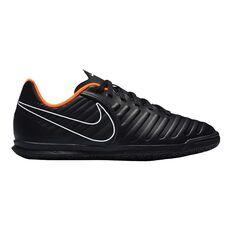 Nike Tiempo LegendX VII Club Junior Indoor Soccer Shoes Black / Orange US 1, Black / Orange, rebel_hi-res