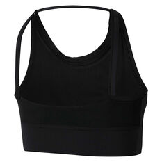 Nike Air Womens Swoosh Medium Support Sports Bra Black XS, Black, rebel_hi-res