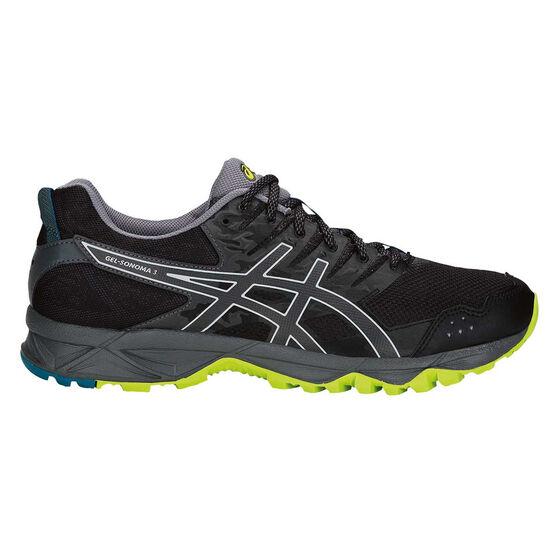 Asics GEL Sonoma 3 Mens Trail Running Shoes, Black / Lime, rebel_hi-res