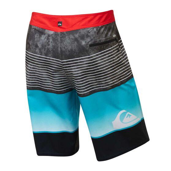 Quiksilver Mens Highline Slab Board Shorts, Blue, rebel_hi-res