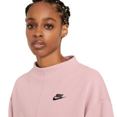 Nike Womens Sportswear Tech Fleece Crew Sweater Pink XS, Pink, rebel_hi-res