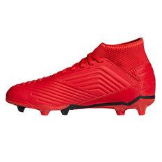adidas Predator 19.3 Kids Football Boots Red / Black US 11, Red / Black, rebel_hi-res