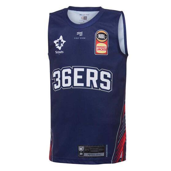 Adelaide 36ers 2019/20 Kids Home Jersey, Blue, rebel_hi-res