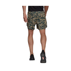 adidas Mens Fast Two-In-One Graphic Shorts Black S, Black, rebel_hi-res