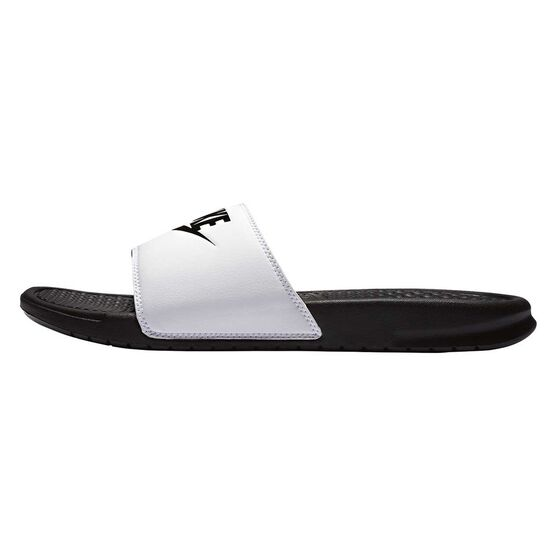 Nike Benassi Just Do It Mens Slides, White / Black, rebel_hi-res