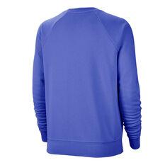 Nike Womens Sportswear Essentials Fleece Sweatshirt Blue XS, Blue, rebel_hi-res