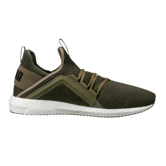 e115d2ae38cee7 Puma Mega NRGY Knit Mens Running Shoes Green   Black US 9