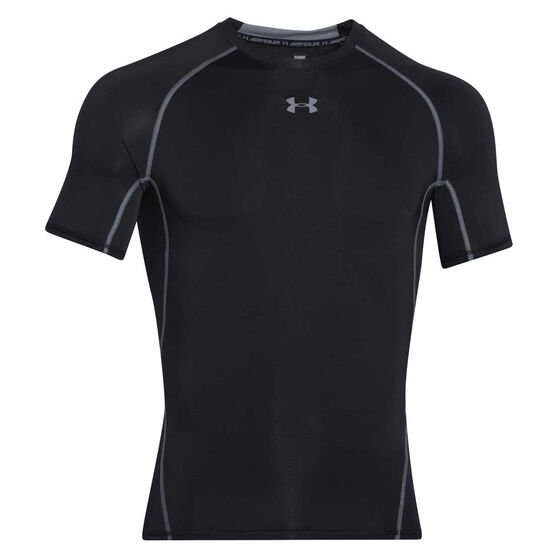 Under Armour Mens HeatGear Compression Top, Black, rebel_hi-res