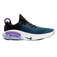Nike Joyride Run Flyknit Womens Running Shoes Black / Purple US 6, Black / Purple, rebel_hi-res
