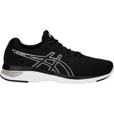 Asics Gel Moya Mens Running Shoe Black / White 7, Black / White, rebel_hi-res