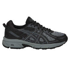 Asics Gel Venture 6 D Womens Trail Running Shoes Black / Grey US 6, Black / Grey, rebel_hi-res