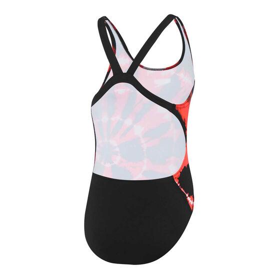 Speedo Girls Endurance Leaderback Swimsuit, Black, rebel_hi-res